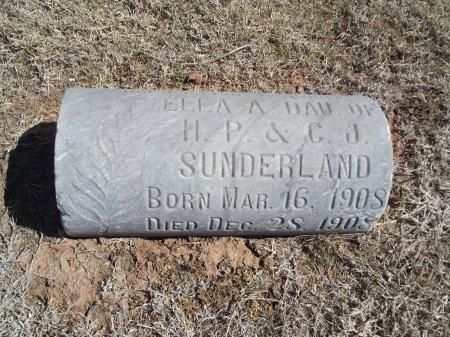 SUNDERLAND, ELLA A - Alfalfa County, Oklahoma | ELLA A SUNDERLAND - Oklahoma Gravestone Photos