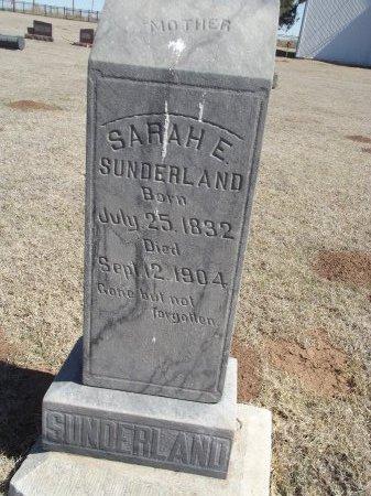 SUNDERLAND, SARAH ELIZABETH - Alfalfa County, Oklahoma | SARAH ELIZABETH SUNDERLAND - Oklahoma Gravestone Photos