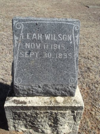 WILSON, LEAH - Alfalfa County, Oklahoma | LEAH WILSON - Oklahoma Gravestone Photos