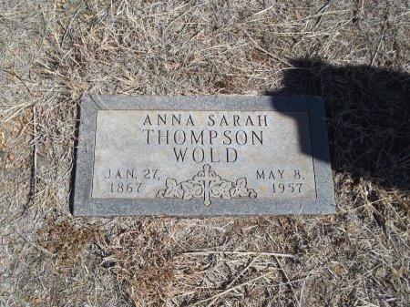 WOLD, ANNA SARAH - Alfalfa County, Oklahoma | ANNA SARAH WOLD - Oklahoma Gravestone Photos