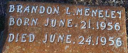 MENELEY, BRANDON L - Atoka County, Oklahoma   BRANDON L MENELEY - Oklahoma Gravestone Photos