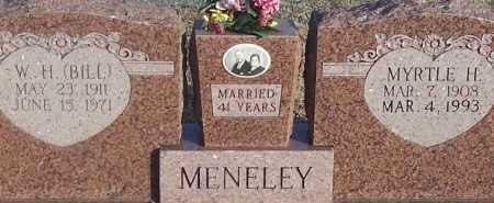 MENELEY, MYRTLE H. - Atoka County, Oklahoma | MYRTLE H. MENELEY - Oklahoma Gravestone Photos