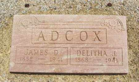 ADCOX, JAMES D - Beckham County, Oklahoma | JAMES D ADCOX - Oklahoma Gravestone Photos