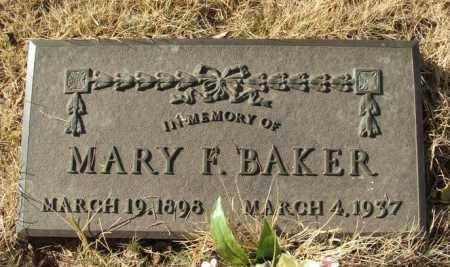 BAKER, MARY F - Beckham County, Oklahoma   MARY F BAKER - Oklahoma Gravestone Photos