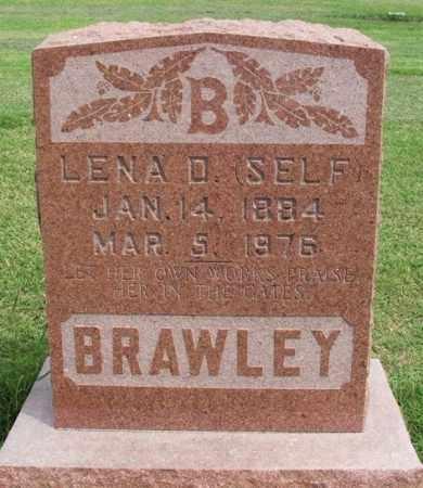 SELF BRAWLEY, LENA D - Beckham County, Oklahoma | LENA D SELF BRAWLEY - Oklahoma Gravestone Photos