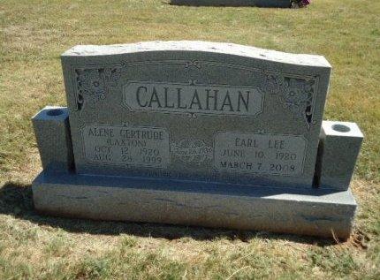 CALLAHAN, ALENE GERTRUDE - Beckham County, Oklahoma | ALENE GERTRUDE CALLAHAN - Oklahoma Gravestone Photos