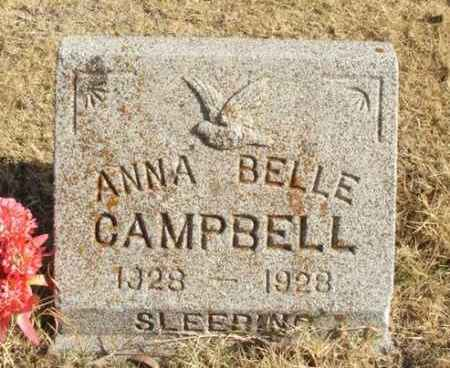 CAMPBELL, ANNA BELLE - Beckham County, Oklahoma   ANNA BELLE CAMPBELL - Oklahoma Gravestone Photos