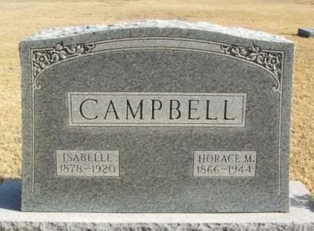 CAMPBELL, HORACE M - Beckham County, Oklahoma | HORACE M CAMPBELL - Oklahoma Gravestone Photos
