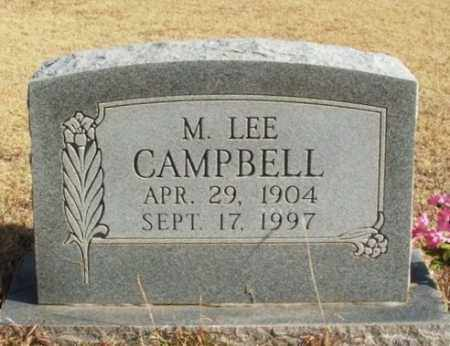 CAMPBELL, M LEE - Beckham County, Oklahoma | M LEE CAMPBELL - Oklahoma Gravestone Photos