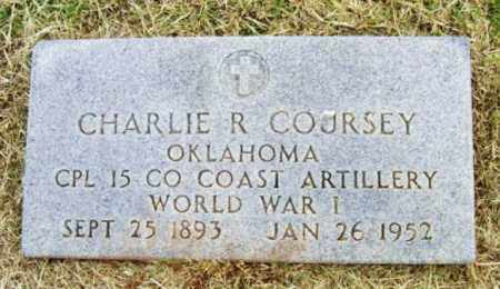 COURSEY (VETERAN WWI), CHARLIE R - Beckham County, Oklahoma | CHARLIE R COURSEY (VETERAN WWI) - Oklahoma Gravestone Photos