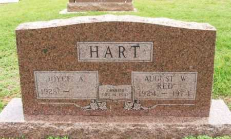 """HART, AUGUST W """"RED"""" - Beckham County, Oklahoma 