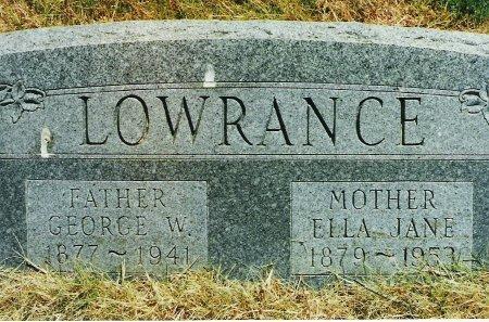 WOODY LOWRANCE, ELLA JANE - Beckham County, Oklahoma | ELLA JANE WOODY LOWRANCE - Oklahoma Gravestone Photos