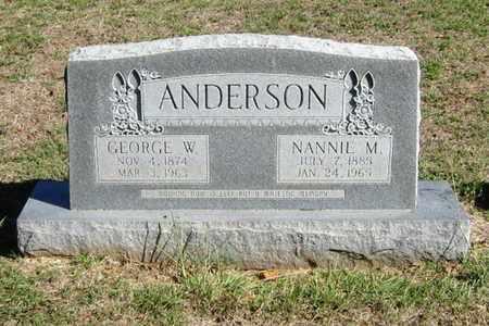 ANDERSON, GEORGE WASHINGTON - Bryan County, Oklahoma | GEORGE WASHINGTON ANDERSON - Oklahoma Gravestone Photos