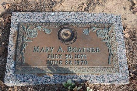 SWAIN BOATNER, MARY ANGELINA - Bryan County, Oklahoma   MARY ANGELINA SWAIN BOATNER - Oklahoma Gravestone Photos