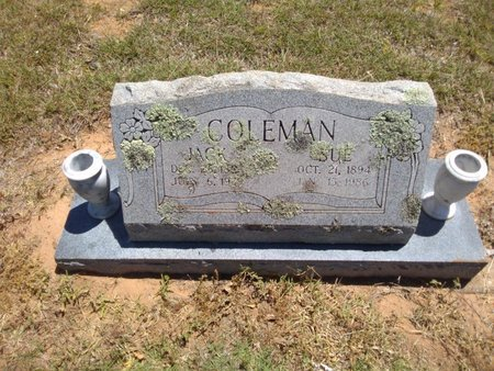 THOMAS COLEMAN, LOLA SUE - Bryan County, Oklahoma | LOLA SUE THOMAS COLEMAN - Oklahoma Gravestone Photos