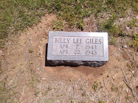 GILES, BILLY LEE - Bryan County, Oklahoma   BILLY LEE GILES - Oklahoma Gravestone Photos