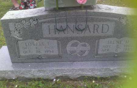 MILLER HANSARD, THELMA IRENE - Bryan County, Oklahoma   THELMA IRENE MILLER HANSARD - Oklahoma Gravestone Photos
