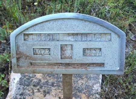 SHULTS, CECIL - Bryan County, Oklahoma | CECIL SHULTS - Oklahoma Gravestone Photos