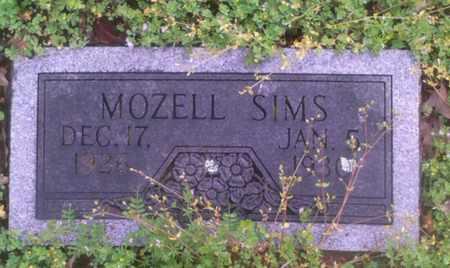 SIMS, MOZELL - Bryan County, Oklahoma   MOZELL SIMS - Oklahoma Gravestone Photos