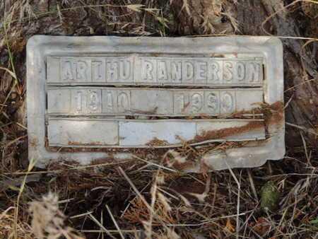 ANDERSON, ARTHUR - Caddo County, Oklahoma | ARTHUR ANDERSON - Oklahoma Gravestone Photos