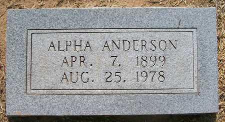 ANDERSON, ALPHA - Caddo County, Oklahoma   ALPHA ANDERSON - Oklahoma Gravestone Photos