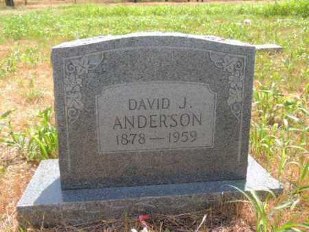 ANDERSON, DAVID J - Caddo County, Oklahoma   DAVID J ANDERSON - Oklahoma Gravestone Photos