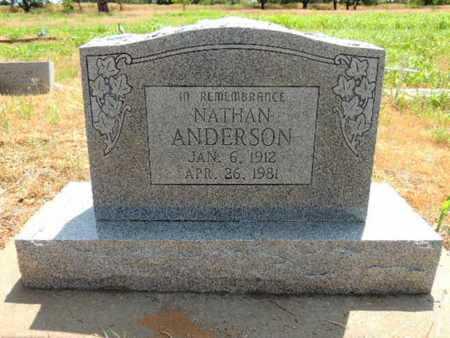 ANDERSON, NATHAN - Caddo County, Oklahoma   NATHAN ANDERSON - Oklahoma Gravestone Photos