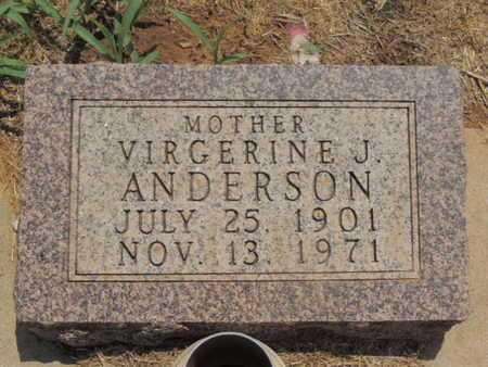 ANDERSON, VIRGERINE J - Caddo County, Oklahoma | VIRGERINE J ANDERSON - Oklahoma Gravestone Photos