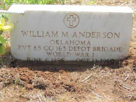 ANDERSON (VETERAN WWI), WILLIAM M - Caddo County, Oklahoma | WILLIAM M ANDERSON (VETERAN WWI) - Oklahoma Gravestone Photos