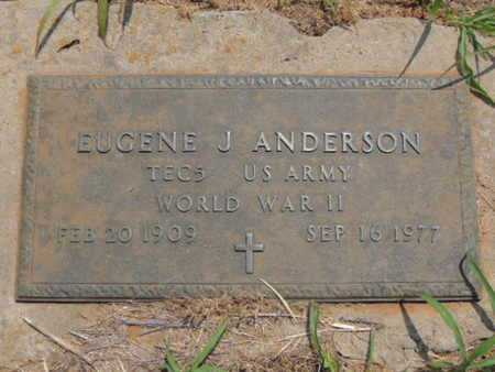 ANDERSON (VETERAN WWII), EUGENE J - Caddo County, Oklahoma | EUGENE J ANDERSON (VETERAN WWII) - Oklahoma Gravestone Photos