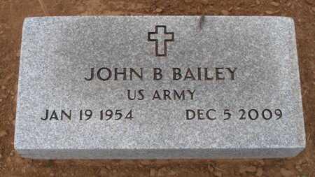BAILEY (VETERAN), JOHN B - Caddo County, Oklahoma | JOHN B BAILEY (VETERAN) - Oklahoma Gravestone Photos