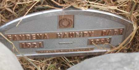 HAUMPY BARR, FAYRENA - Caddo County, Oklahoma | FAYRENA HAUMPY BARR - Oklahoma Gravestone Photos