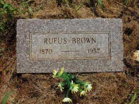 BROWN, RUFUS - Caddo County, Oklahoma | RUFUS BROWN - Oklahoma Gravestone Photos