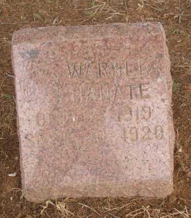CHANATE, WARNER - Caddo County, Oklahoma | WARNER CHANATE - Oklahoma Gravestone Photos