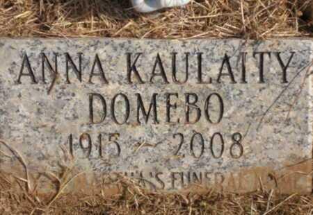 "KAULAITY DOMEBO, ANNA ""A-GEE"" - Caddo County, Oklahoma | ANNA ""A-GEE"" KAULAITY DOMEBO - Oklahoma Gravestone Photos"