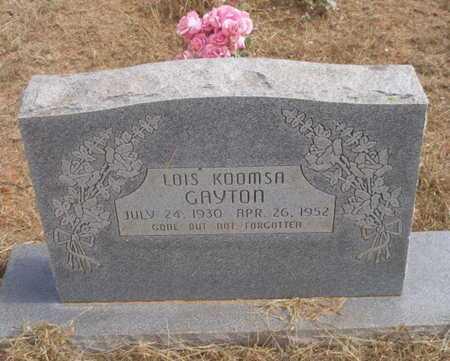 KOOMSA GAYTON, LOIS - Caddo County, Oklahoma   LOIS KOOMSA GAYTON - Oklahoma Gravestone Photos