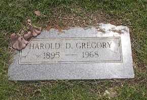 GREGORY, HAROLD D. - Caddo County, Oklahoma   HAROLD D. GREGORY - Oklahoma Gravestone Photos