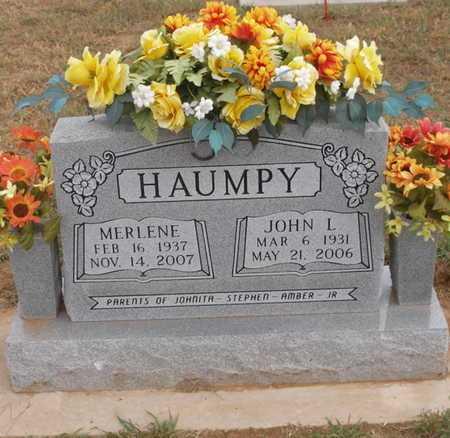 HAUMPY (VETERAN), JOHNNY LEE - Caddo County, Oklahoma | JOHNNY LEE HAUMPY (VETERAN) - Oklahoma Gravestone Photos