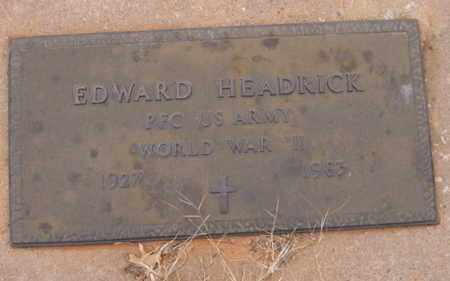HEADRICK (VETERAN WWII), EDWARD - Caddo County, Oklahoma | EDWARD HEADRICK (VETERAN WWII) - Oklahoma Gravestone Photos