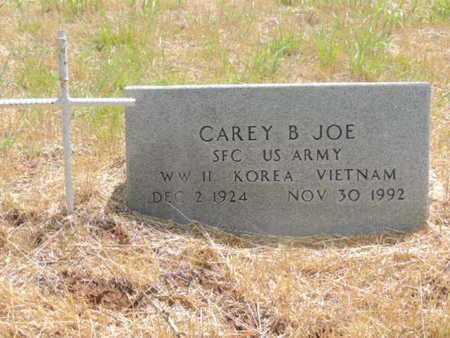 JOE (VETERAN (3WARS), CAREY B - Caddo County, Oklahoma | CAREY B JOE (VETERAN (3WARS) - Oklahoma Gravestone Photos