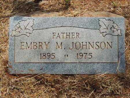 JOHNSON, EMBRY M - Caddo County, Oklahoma | EMBRY M JOHNSON - Oklahoma Gravestone Photos