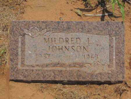 JOHNSON, MILDRED L - Caddo County, Oklahoma   MILDRED L JOHNSON - Oklahoma Gravestone Photos