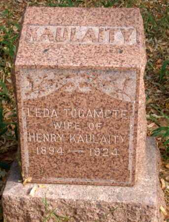 TO GAM OTE KAULAITY, MARY LEDA - Caddo County, Oklahoma | MARY LEDA TO GAM OTE KAULAITY - Oklahoma Gravestone Photos