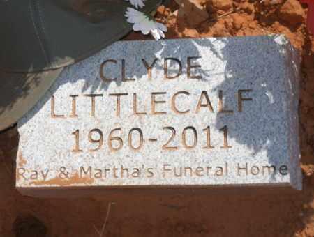 LITTLECALF, CLYDE - Caddo County, Oklahoma   CLYDE LITTLECALF - Oklahoma Gravestone Photos