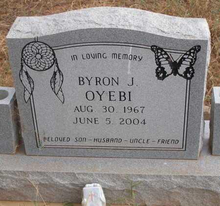 OYEBI, BYRON J - Caddo County, Oklahoma | BYRON J OYEBI - Oklahoma Gravestone Photos