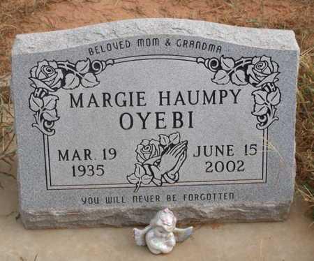 HAUMPY OYEBI, MARGIE - Caddo County, Oklahoma   MARGIE HAUMPY OYEBI - Oklahoma Gravestone Photos