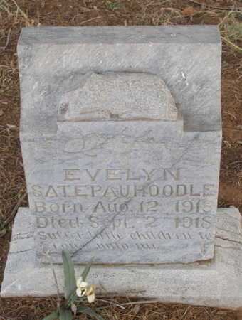 SATEPAUHOODLE, EVELYN - Caddo County, Oklahoma | EVELYN SATEPAUHOODLE - Oklahoma Gravestone Photos