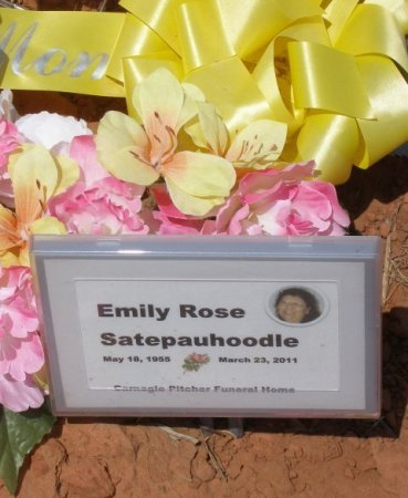 SATEPAUHOODLE, EMILY ROSE - Caddo County, Oklahoma | EMILY ROSE SATEPAUHOODLE - Oklahoma Gravestone Photos