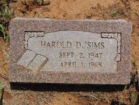 SIMS, HOWARD D - Caddo County, Oklahoma   HOWARD D SIMS - Oklahoma Gravestone Photos