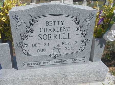 SORRELL, BETTY CHARLENE - Caddo County, Oklahoma | BETTY CHARLENE SORRELL - Oklahoma Gravestone Photos